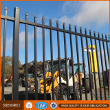 Black Powder Coated Security Backyard Metal Steel Picket Fence