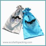 高品質のサテンのドローストリングの装飾的な袋の装飾的なパッケージ袋