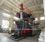 Máquina plástica del moldeo por insuflación de aire comprimido del HDPE de la protuberancia con la pista 2000L del acumulador