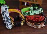 colliers de chat de crabot d'animal familier de piste de zèbre de mode