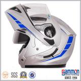Чисто белый двойной Flip забрала вверх по шлему мотоцикла (LP504)