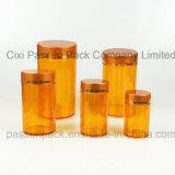 魚オイルの包装のためのこはく色の注入ペット薬のびん(PPC-PETM-017)