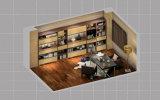 Meubles en bois modernes italiens de pièce d'étude de bureau (zj-008)