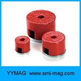 De rode Magneet van de Pot van AlNiCo D27X25mm van de Verf Diepe