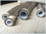Aseo manguera de acero inoxidable trenzado de la manguera de teflón con liso y corrugado interior del tubo