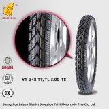 Pneu Yt-348 Tt Tll3.00-18 da motocicleta da qualidade superior de China 8pr