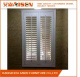 Weißes Bifold antikes Fenster-hölzerne wasserdichte Plantage-Blendenverschlüsse