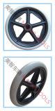Rotella grigia della sedia a rotelle elettrica della gomma piuma dell'unità di elaborazione da 5 pollici