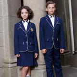 カスタム標準的なデザイン濃紺の学生服のブレザー