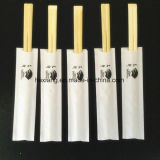 Nivel A envueltos papel grado alimenticio desechables palillos de bambú