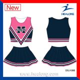 Uniformes de Cheerleading sublimés par collet de la jeunesse d'impression de Healong O