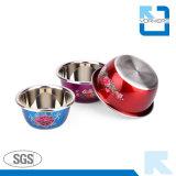 Cuvettes de mélange d'acier inoxydable de type d'impression de fleur/de saladier/bols de potage