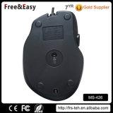 Ratón ajustable óptico atado con alambre USB de Dpi de 6 botones