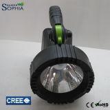 mini lampe solaire de la torche 3W, lumière rechargeable de torche de DEL,