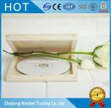 Boîte-cadeau en bois du CD DVD de logo fait sur commande