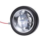 """Cromo negro DC10-30V 4.5 """" 30W LED de Lantsun J245 que conduce el carro apto Harley etc del jeep de la luz de niebla"""