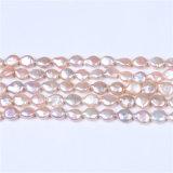 Perle d'acqua dolce coltivate bianche di figura naturale della moneta del filo da 16 pollici misura per la collana Handmade del braccialetto dei monili DIY della spiaggia di fascini