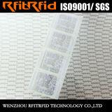 UHF 처분할 수 있는 방수 RFID 의류 RFID 레이블