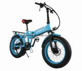 20 ' بوصة يطوي إطار العجلة سمين درّاجة كهربائيّة مع يخفى بطّاريّة