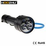 indicatore luminoso potente di Hoozhu LED Torche della lega di alluminio 3000lm per immersione subacquea ed il video