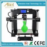 造りの版とプリンター部品そして印刷材料が付いているアネットAdiy 3Dプリンターキット