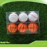 De promotie Bal van de Sporten van de Golfbal Vastgestelde die met het Transparante Pakket van pvc wordt geplaatst