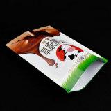 Customzied Transperantは3つの層がジッパーが付いているキャンデーのパッケージのための直立したポリ袋を薄板にしたジッパーの袋を立てる