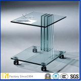 Customsizedサイズおよびデザインコーヒー、食卓の上のための明確なフロートガラス緩和されたガラス