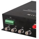 Ricetrasmettitore ottico della fibra con 4 la Manica HD-Sdi