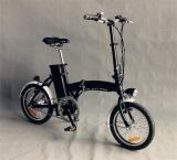 """16 """" mini bicicleta eléctrica negra plegable del estilo 24V 250W (JSL016A-5)"""