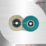 Disco flexível da aleta da cor de Brown de 45 aletas da página para o aço inoxidável