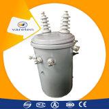 A fase monofásica Pólo montou o tipo imergido petróleo transformador de 100 kVA