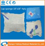 40s 4ply 6ply 8plyのX線チップ医学のラップのスポンジのサイズ30X30cmおよび45X45cm