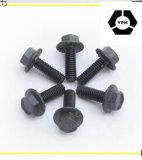 Parafusos Hex inoxidáveis da flange do aço DIN6921 com preto