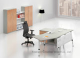 現代事務所のシンプルな設計曲げられたマネージャの机(HF-BSA02)