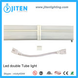 두 배 줄 LED 관 전등 설비 T5 LED 가벼운 관, 보장 3 년