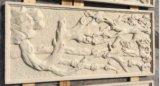 Песчаник Relievo высекая плитки стены статуи для домашнего украшения