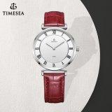 O logotipo feito sob encomenda das senhoras de quartzo do aço inoxidável de relógios de forma presta atenção às mulheres Watch71064