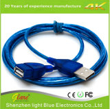 Cable USB transparente a cable