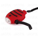 Torcia elettrica bianca della dinamo di figura dei pesci dell'ABS più poco costoso LED