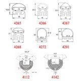 4140 LED-Aluminiumprofil-Lichtschacht Extrusium Diffuser (Zerstäuber)