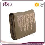 Raccoglitore poco costoso all'ingrosso RFID della chiusura lampo di promozione che ostruisce il raccoglitore di cuoio delle donne dell'unità di elaborazione