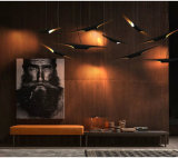 Das iluminações de bambu quentes modernas da venda de Dlss candelabros 2017 de alumínio do diodo emissor de luz para o projeto
