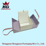 Rectángulo de regalo de papel abierto del doble de la alta calidad
