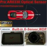 Caixa negra cheia do carro da liga nova HD1080p do zinco 3.0inch com a câmera do carro 2CH, Rearview, ângulo de vista 170degree, HDMI, Avoirdupois-para fora carro DVR-3007