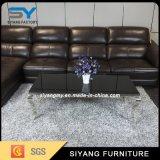 Tabella di tè dei piedi del metallo della mobilia del salone con marmo
