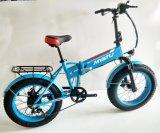 環境に優しい雪浜の4.0の脂肪タイヤが付いている折るE自転車の脂肪