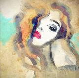 De hete Sexy Druk van het Canvas van de Dames van de Schoonheid met schittert het Art. van de Muur