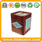 مربّعة معدن قصدير شوكولاطة صندوق مع غطاء سدودة, [فوود كنتينر]