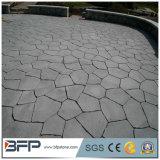 Pedra de pavimentação do granito durável na superfície inflamada